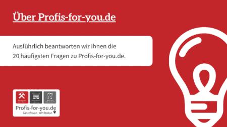 Über Profis-for-you.de - Überblick der 20 häufigsten Fragen